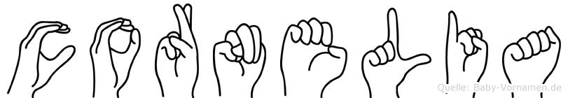 Cornelia in Fingersprache für Gehörlose
