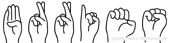 Börries in Fingersprache für Gehörlose