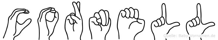 Cornell in Fingersprache für Gehörlose