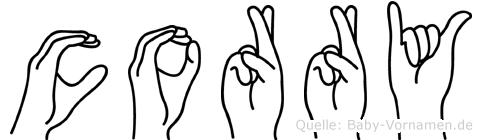 Corry in Fingersprache für Gehörlose