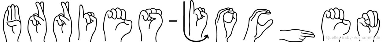 Börries-Jochen im Fingeralphabet der Deutschen Gebärdensprache
