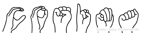 Cosima in Fingersprache für Gehörlose