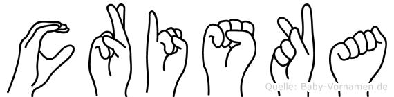 Criska im Fingeralphabet der Deutschen Gebärdensprache