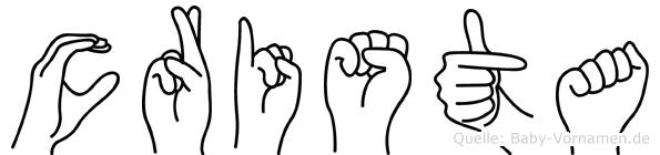 Crista im Fingeralphabet der Deutschen Gebärdensprache