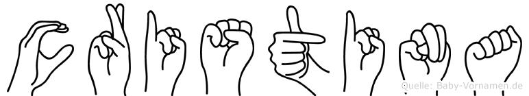 Cristina in Fingersprache für Gehörlose