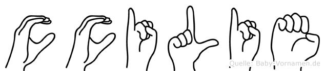 Cäcilie in Fingersprache für Gehörlose