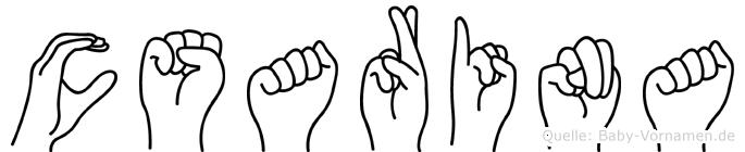 Cäsarina im Fingeralphabet der Deutschen Gebärdensprache