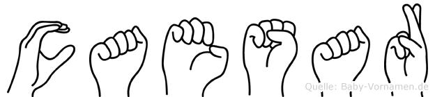 Caesar im Fingeralphabet der Deutschen Gebärdensprache