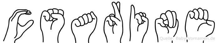 Cäsarine in Fingersprache für Gehörlose