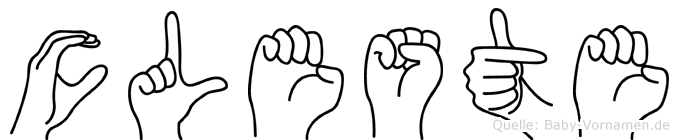 Cöleste in Fingersprache für Gehörlose