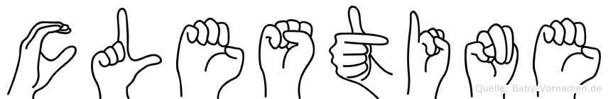 Cölestine in Fingersprache für Gehörlose