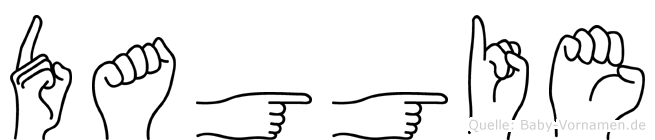 Daggie in Fingersprache für Gehörlose