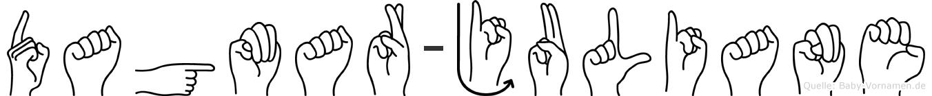 Dagmar-Juliane im Fingeralphabet der Deutschen Gebärdensprache