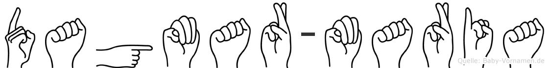 Dagmar-Maria im Fingeralphabet der Deutschen Gebärdensprache