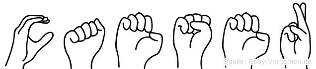 Caeser im Fingeralphabet der Deutschen Gebärdensprache