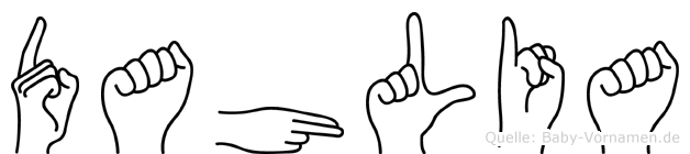Dahlia in Fingersprache für Gehörlose
