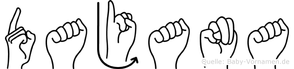 Dajana im Fingeralphabet der Deutschen Gebärdensprache