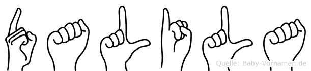 Dalila in Fingersprache für Gehörlose
