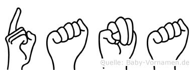 Dana im Fingeralphabet der Deutschen Gebärdensprache