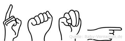 Dang im Fingeralphabet der Deutschen Gebärdensprache