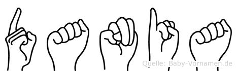 Dania im Fingeralphabet der Deutschen Gebärdensprache
