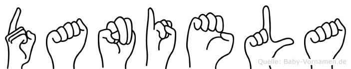 Daniela in Fingersprache für Gehörlose