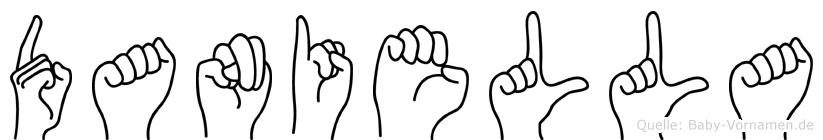 Daniella im Fingeralphabet der Deutschen Gebärdensprache