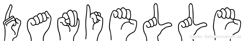 Danielle im Fingeralphabet der Deutschen Gebärdensprache