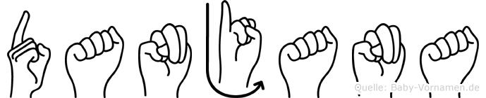 Danjana im Fingeralphabet der Deutschen Gebärdensprache