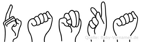 Danka im Fingeralphabet der Deutschen Gebärdensprache