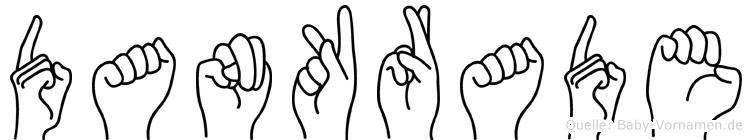Dankrade im Fingeralphabet der Deutschen Gebärdensprache