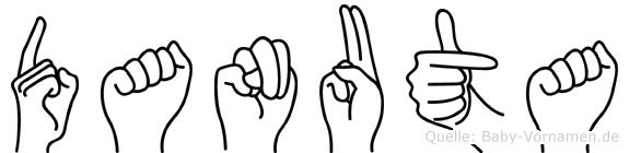 Danuta im Fingeralphabet der Deutschen Gebärdensprache