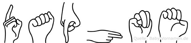 Daphne im Fingeralphabet der Deutschen Gebärdensprache