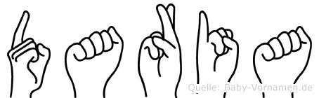 Daria in Fingersprache für Gehörlose