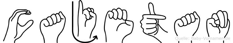 Cajetan in Fingersprache für Gehörlose