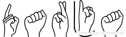 Darja in Fingersprache für Gehörlose