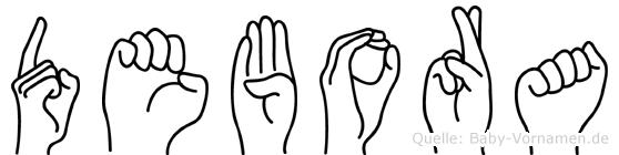 Debora im Fingeralphabet der Deutschen Gebärdensprache