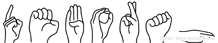 Deborah in Fingersprache für Gehörlose