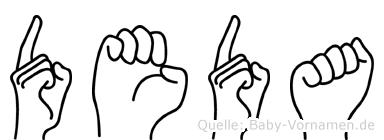 Deda in Fingersprache für Gehörlose
