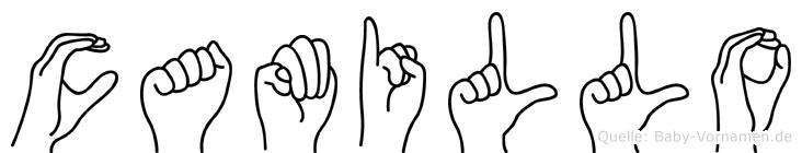 Camillo in Fingersprache für Gehörlose