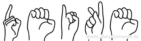 Deike im Fingeralphabet der Deutschen Gebärdensprache