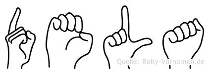 Dela in Fingersprache für Gehörlose