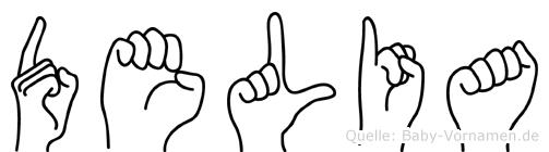 Delia in Fingersprache für Gehörlose