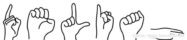 Deliah im Fingeralphabet der Deutschen Gebärdensprache