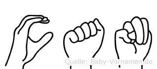 Can im Fingeralphabet der Deutschen Gebärdensprache