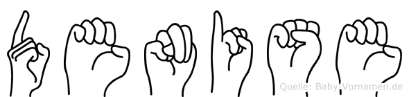 Denise im Fingeralphabet der Deutschen Gebärdensprache