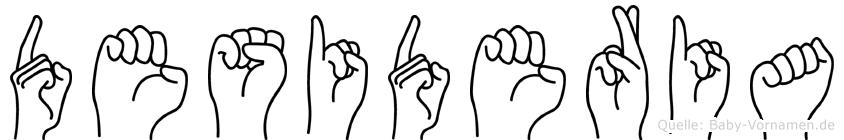 Desideria im Fingeralphabet der Deutschen Gebärdensprache