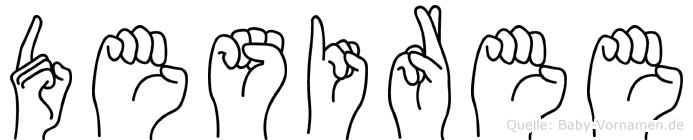 Desiree im Fingeralphabet der Deutschen Gebärdensprache