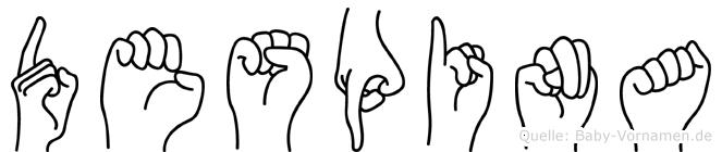 Despina im Fingeralphabet der Deutschen Gebärdensprache