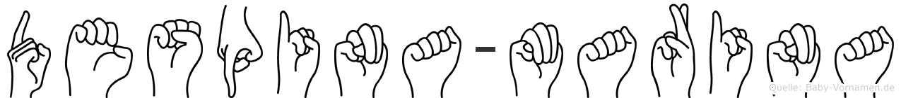 Despina-Marina im Fingeralphabet der Deutschen Gebärdensprache